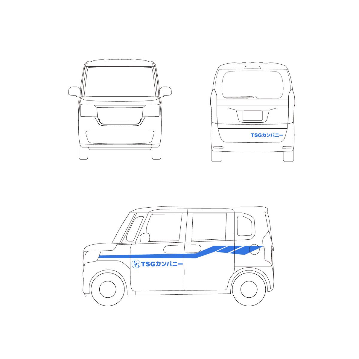 軽自動車のラッピングイメージ